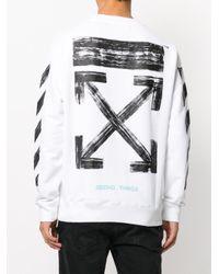 Off-White c/o Virgil Abloh White Printed Sweatshirt for men