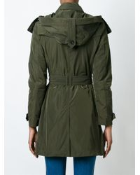 "Burberry - Green ""balmoral"" Trench - Lyst"