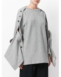 Y. Project - Gray V-neck Sweater - Lyst