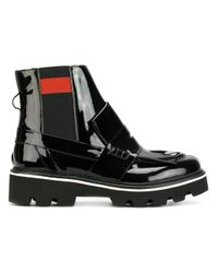 MSGM   Black Fringe Chelsea Loafer   Lyst
