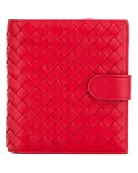 Bottega Veneta - Red Small Leather Wallet - Lyst