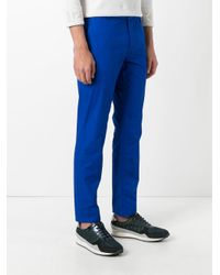 KENZO - Blue Straight Leg Trousers for Men - Lyst