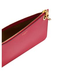 Givenchy Red Gv Shopper Leather Pouch