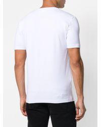 Love Moschino White Graphic Printed T-shirt for men