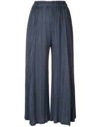 Pleats Please Issey Miyake Blue Trousers