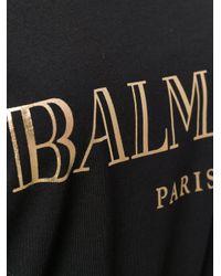 Balmain Black - Embellished Logo Tank Top - Women - Cotton/metal/glass - 44