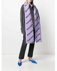 Sciarpa con effetto jacquard di Balenciaga in Purple