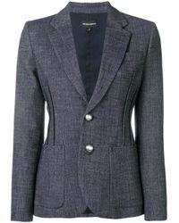 Emporio Armani Blue Structured Blazer