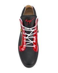 Giuseppe Zanotti Black Leather Sneakers for men