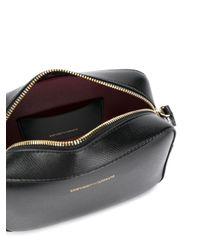 Mini bag a tracolla in similnappa di Emporio Armani in Black