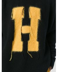 Tommy Hilfiger Black H Knit Jumper for men