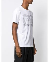 Versace White Printed Cotton T-shirt for men