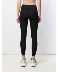 DKNY Black Cotton Leggings With Logo
