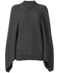Givenchy Gray Cashmere Poncho