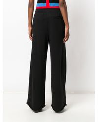 T By Alexander Wang Black Twill Tapered Trousers