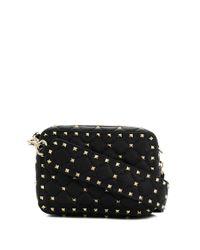 Valentino Garavani Black Rockstud Spike Small Leather Shoulder Bag