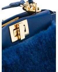 Fendi - Blue Micro Peekaboo Bag - Lyst