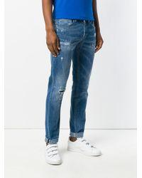 Dondup Blue Cotton George Jeans for men