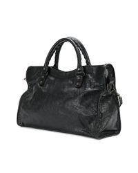 Balenciaga Black City Classic Leather Shoulder Bag