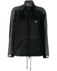 Alexander Wang Black Mesh Zipped Jacket