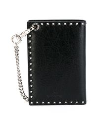 Valentino | Black Leather Wallet | Lyst