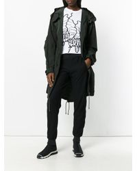 Y-3 - Green Hooded Nylon Parka for Men - Lyst