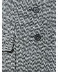 Monse - Black Herringbone Wool Mini Skirt - Lyst