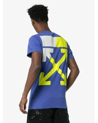 T-shirt Con Stampa Logo di Off-White c/o Virgil Abloh in Blue da Uomo