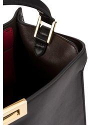 Fendi Black Peekaboo X-lite Soft Calf Satchel Bag