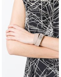 Givenchy - Pink Two Row Shark Bracelet In Leather - Lyst