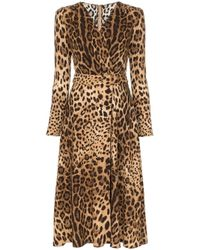 Dolce & Gabbana Multicolor Leopard Print Short Dress