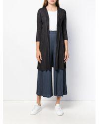 Pleats Please Issey Miyake Black Coat