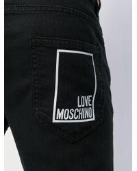 Love Moschino Black Logo Print Slim Jeans for men