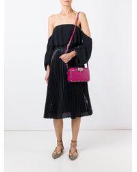 Valentino - Pink Rockstud Leather Cross-Body Bag  - Lyst