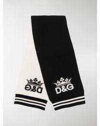 Dolce & Gabbana Black Wool Scarf for men