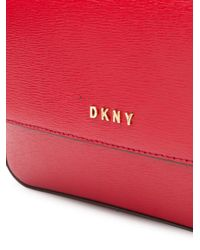 DKNY Red Bryant Leather Crossbody Bag