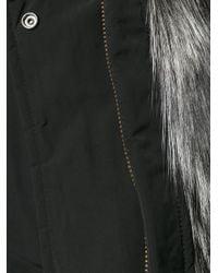 Woolrich Black Military Parka Fox In Nylon