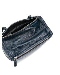 Givenchy Blue Pandora Mini Leather Shoulder Bag