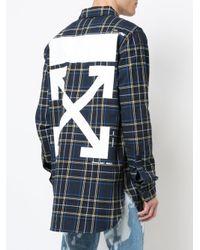 Off-White c/o Virgil Abloh Blue Check Shirt for men