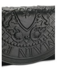 Balmain - Black Leather Pouch - Lyst