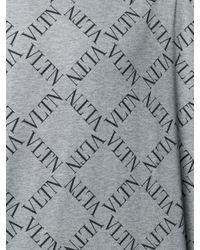 Valentino Gray Vltn Grid Print T-shirt for men