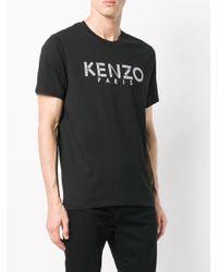 T-shirt con logo di KENZO in Black da Uomo