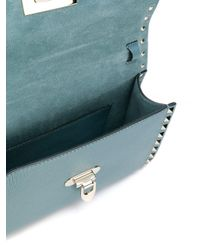 Valentino - Green Rockstud Leather Shoulder Bag - Lyst