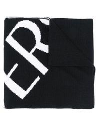 Versace Black Wool Scarf for men