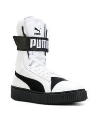 PUMA White Platform Boots for men