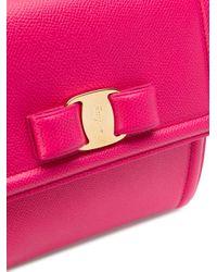 Ferragamo Purple Carrie Small Leather Bag