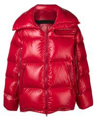 Calvin Klein Red Oversize Down Coat