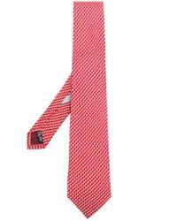 Ferragamo Red Print Tie for men