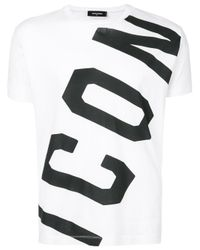 DSquared² White Icon Graphic T-shirt for men