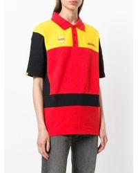 Vetements Yellow Dhl Logo Cotton Polo Shirt